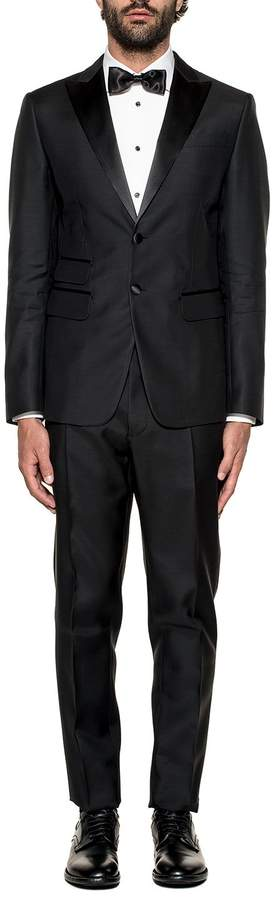 DSQUARED2 Black London Wool 2 Piece Suit