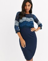 Paper Dolls 2 In 1 lace bodycon dress