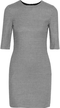 Alice + Olivia Delora Houndstooth Jacquard Mini Dress