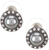 Anne Klein Pearl Diaries Faux-Pearl & Crystal Stud Earrings
