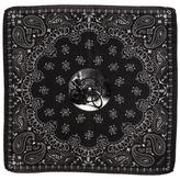 Black The 'Widow Maker' Italian Silk Pocket Square