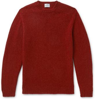 Kingsman Shetland Wool Sweater - Men - Burgundy