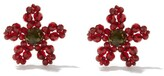 Thumbnail for your product : Simone Rocha Beaded Flower Earrings - Red Multi