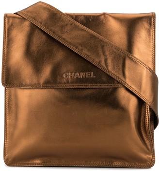 Chanel Pre Owned Embossed Logo Crossbody Bag