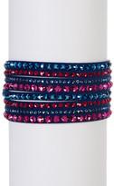 Swarovski Slake Deluxe Crystal Embellished Faux Suede Wrap Bracelet