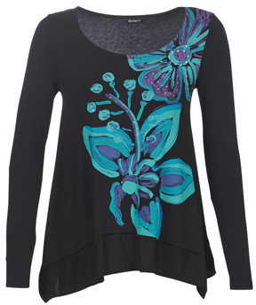 Desigual LENA women's Long Sleeve T-shirt in Blue