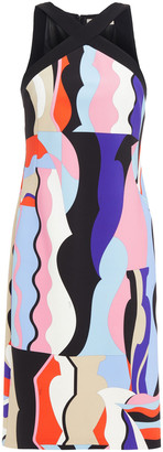 Emilio Pucci Crossover Printed Stretch-jersey Dress