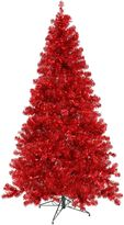 Vickerman 6-Foot Pre-Lit Christmas Tree in Red with Red Lights