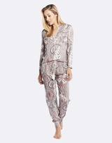 Deshabille Harmony Long Pj Set Grey / Pink