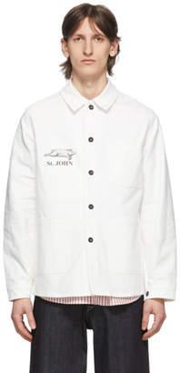 Junya Watanabe White Le Laboureur Edition St. John Work Jacket