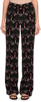 Valentino Love Blade Pajama Pants, Black