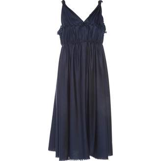 David Szeto Navy Wool Dress for Women