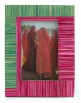 Wood photo frame (4x6), 'Rajasthan Symmetry'