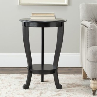 Three Posts Regan Solid Wood 3 Legs End Table with Storage Color: Vintage Gray