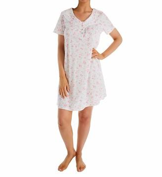 Carole Hochman Women's Short Sleeve Gown