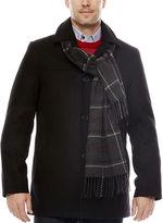Dockers Wool-Blend Walking Coat with Scarf