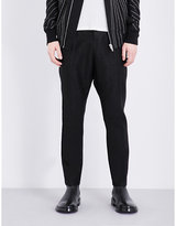Rick Owens Dropped-crotch Relaxed Jacquard Trousers
