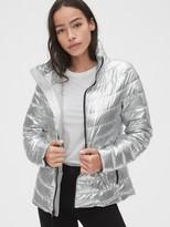 Gap ColdControl Lightweight Metallic Puffer Jacket
