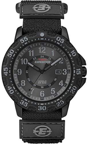 Timex Expedition Men's T49997 Quartz Watch with Black Dial Analogue Display and Black Fabric Strap