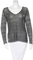 Helmut Lang Open Knit V-Neck Sweater