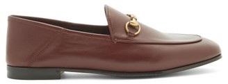 Gucci Brixton Collapsible-heel Leather Loafers - Burgundy