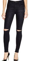 7 For All Mankind Women's The High Waist Skinny with Knee Slashes