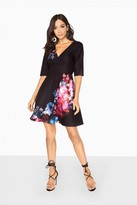 Little Mistress Aurora Placement Print Skater Dress