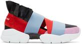 Emilio Pucci Purple & Black Colorblock 'Moscow' Ruffle Slip-On Sneakers