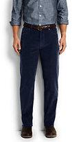 Classic Men's Traditional Fit 14-wale Corduroy Pants-Dark Gray Plaid
