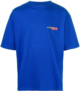 Balenciaga logo-print oversize T-shirt