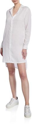 Frank And Eileen Button-Down Long-Sleeve Woven Cotton Shirtdress