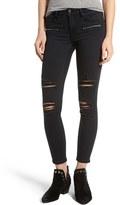Vigoss Women's Distressed Zip Skinny Jeans