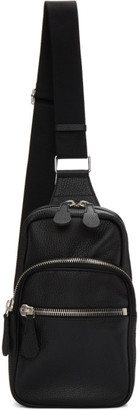 Maison Margiela Black Leather Crossbody Backpack