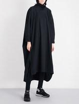 Y-3 Y3 Ladies Black Button fastening Oversized Stretch-Cotton Shirt Dress