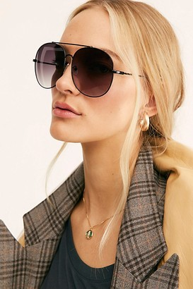 Free People Sundown Oversized Aviator Sunglasses