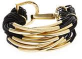 Saachi Gold-Tone & Black Multiple Strand Bracelet