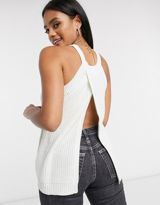 Brave Soul ariana halter neck knitted top