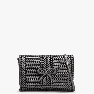 Anya Hindmarch Neeson Anthracite Leather Woven Cross-Body Bag