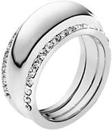 Michael Kors Pave Silver-Tone Insert Ring