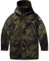 Moncler Gaillon Camouflage-Print Quilted Shell Hooded Down Parka