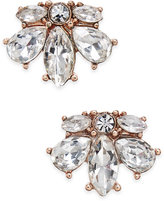 Charter Club Rose Gold-Tone Crystal Cluster Stud Earrings, Only at Macy's