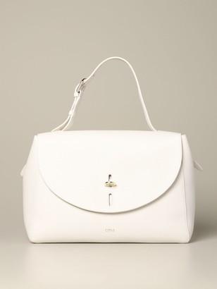Furla Top Handle Bag In Textured Leather