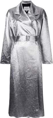LAYEUR metallic longline coat