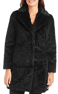 Vince Camuto Notched Collar Faux-Fur Coat