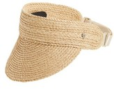 Helen Kaminski Women's Packable Raffia Visor - Grey
