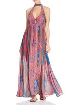 Free People Unattainable Printed Maxi Dress