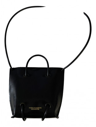Kozha Numbers Black Leather Handbags