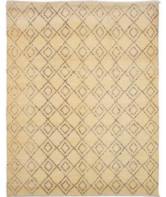 Nessa Isabelline One-of-a-Kind Hand-Knotted Wool Ivory Area Rug Isabelline
