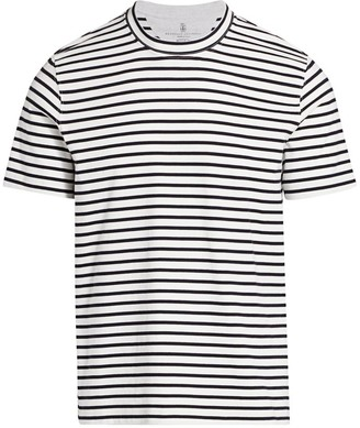 Brunello Cucinelli Natural Stripe T-Shirt