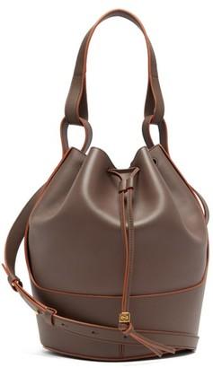 Loewe Balloon Medium Leather Shoulder Bag - Womens - Grey